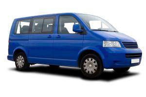 Blue Passenger Van